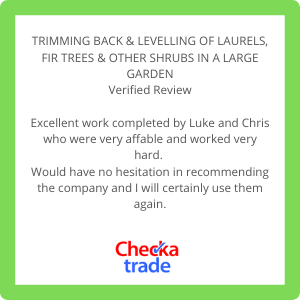 Image of customer testimonial taken from check a trade
